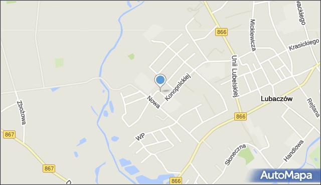 Lubaczów, Witosa Wincentego, mapa Lubaczów