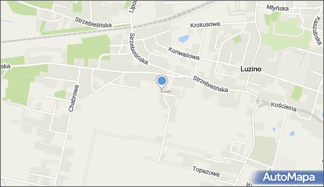 Luzino, Wiejska, mapa Luzino