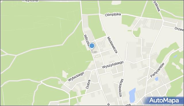 Luzino, Wilczka, mapa Luzino