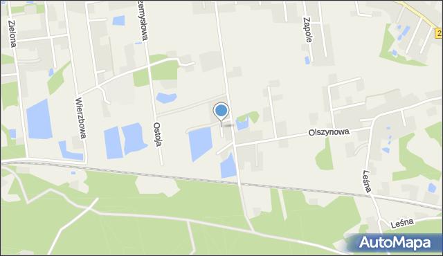 Mała Nieszawka, Wiązowa, mapa Mała Nieszawka