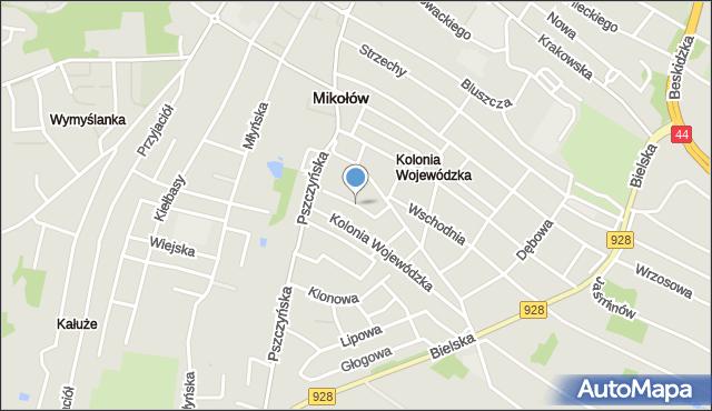 Mikołów, Wiśniowa, mapa Mikołów