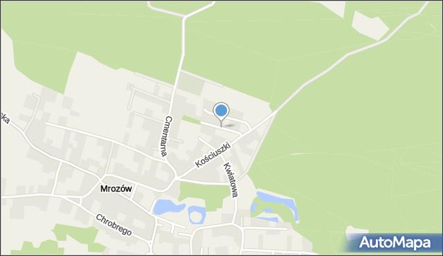 Mrozów, Widokowa, mapa Mrozów