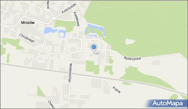 Mrozów, Wiosenna, mapa Mrozów