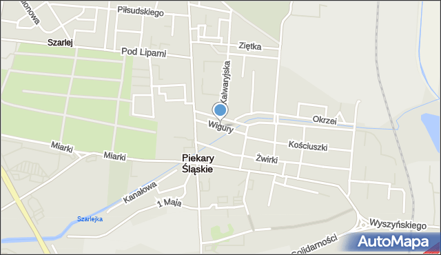 Piekary Śląskie, Wigury Stanisława, inż. pil., mapa Piekary Śląskie