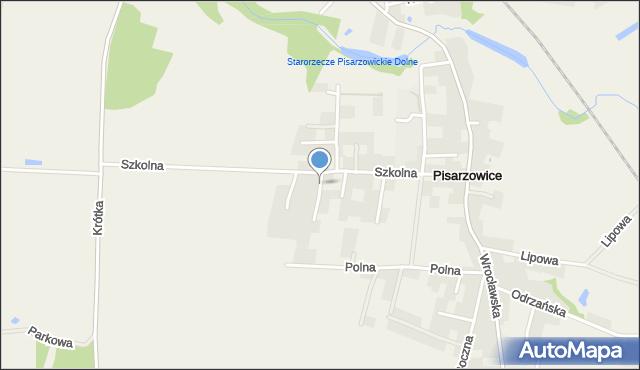 Pisarzowice gmina Miękinia, Wiosenna, mapa Pisarzowice gmina Miękinia