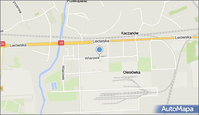 Przemyśl, Wiarowa, mapa Przemyśla