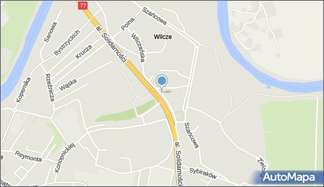 Przemyśl, Wilczańska, mapa Przemyśla