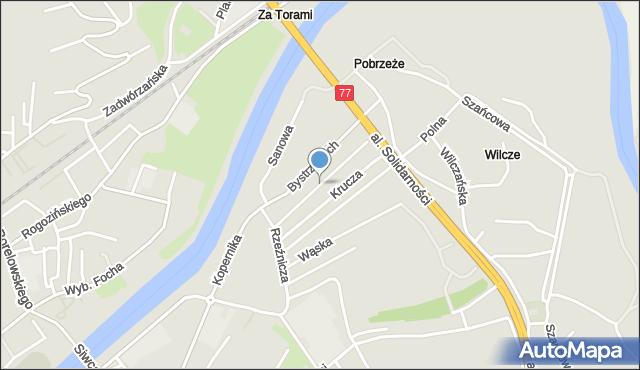 Przemyśl, Wiśniowa, mapa Przemyśla