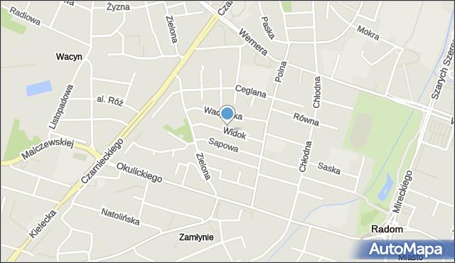 Radom, Widok, mapa Radomia