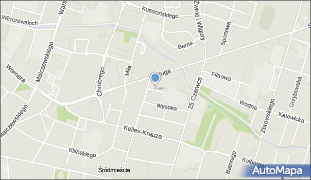Radom, Wilcza, mapa Radomia
