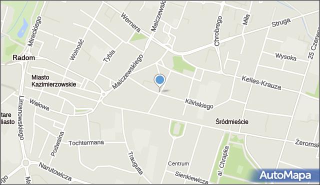 Radom, Witolda, mapa Radomia