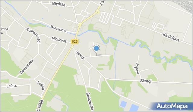 Ruda Śląska, Wilcza, mapa Rudy Śląskiej