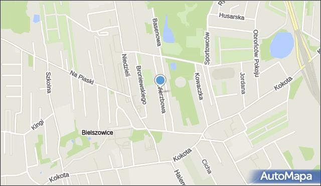 Ruda Śląska, Wierzbowa, mapa Rudy Śląskiej