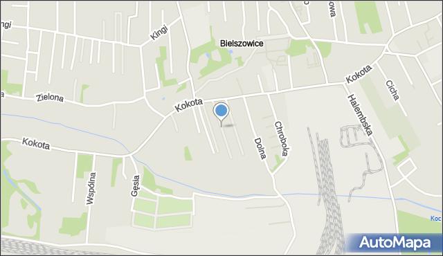 Ruda Śląska, Wiosenna, mapa Rudy Śląskiej
