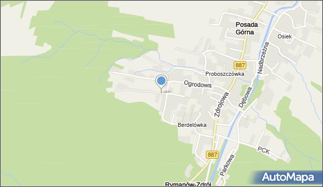 Rymanów-Zdrój, Widokowa, mapa Rymanów-Zdrój