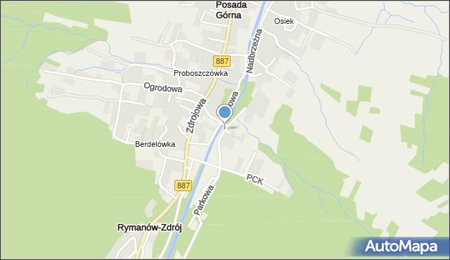 Rymanów-Zdrój, Wierzbowa, mapa Rymanów-Zdrój