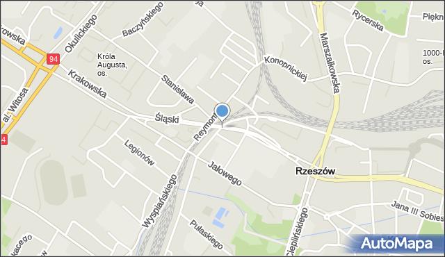 Rzeszów, Wiadukt Śląski, mapa Rzeszów