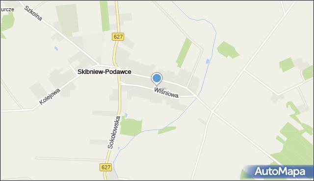 Skibniew-Podawce, Wiśniowa, mapa Skibniew-Podawce