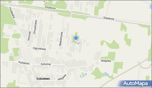 Sobolewo gmina Supraśl, Winogronowa, mapa Sobolewo gmina Supraśl