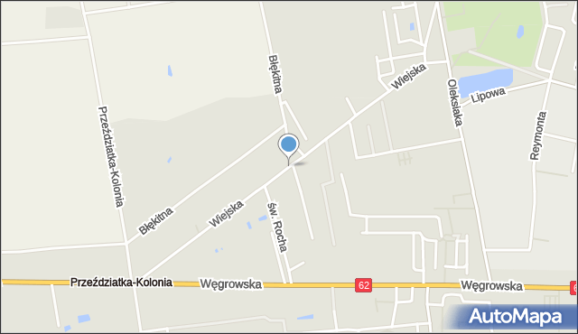 Sokołów Podlaski, Wiejska, mapa Sokołów Podlaski