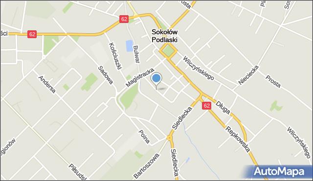 Sokołów Podlaski, Winnice, mapa Sokołów Podlaski