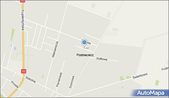 Sokołów Podlaski, Wiosenna, mapa Sokołów Podlaski
