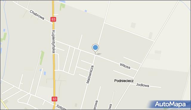 Sokołów Podlaski, Witosa Wincentego, mapa Sokołów Podlaski