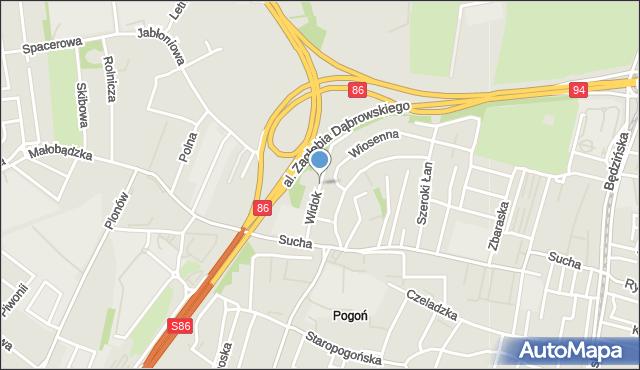 Sosnowiec, Widok, mapa Sosnowca