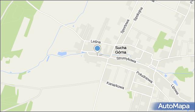 Sucha Górna, Wierzbowa, mapa Sucha Górna