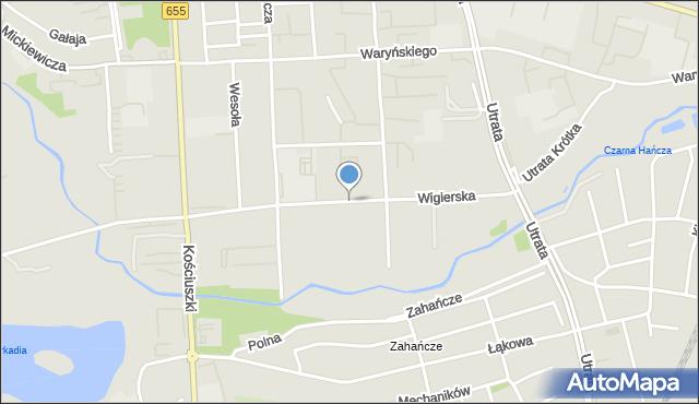 Suwałki, Wigierska, mapa Suwałk