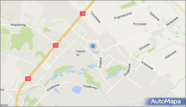 Toruń, Widok, mapa Torunia