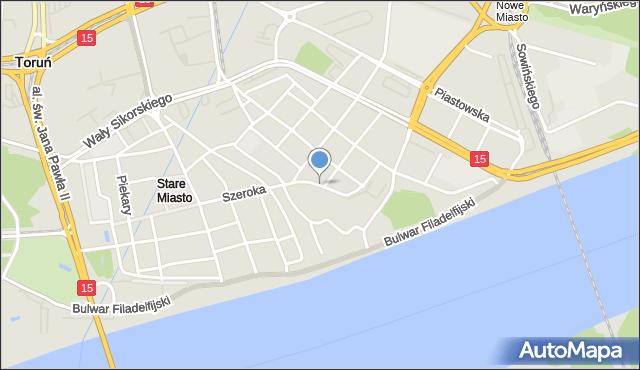 Toruń, Wielkie Garbary, mapa Torunia