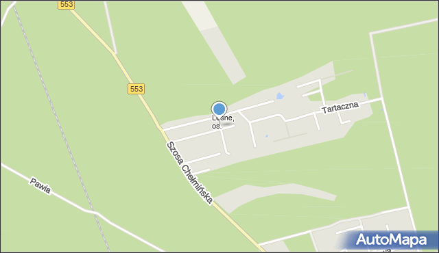 Toruń, Wiklinowa, mapa Torunia