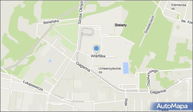 Toruń, Wileńska, mapa Torunia
