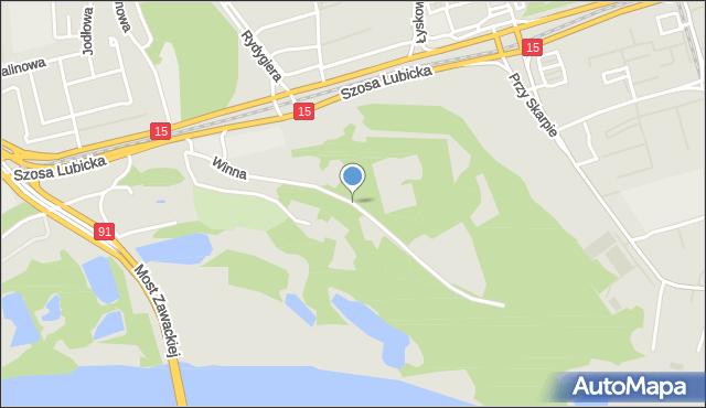 Toruń, Winna, mapa Torunia