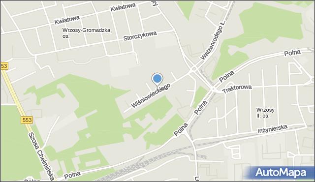 Toruń, Wiśniowieckiego Jeremiego, mapa Torunia