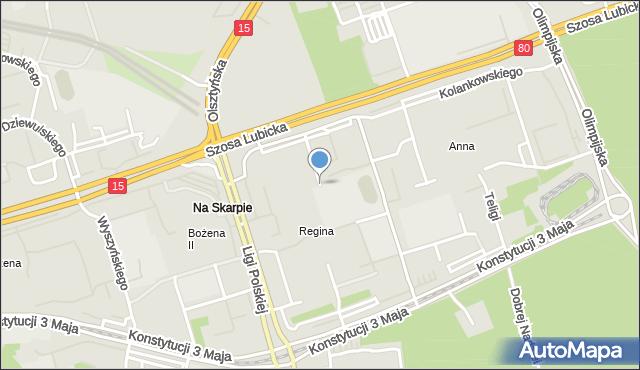 Toruń, Witosa Wincentego, mapa Torunia