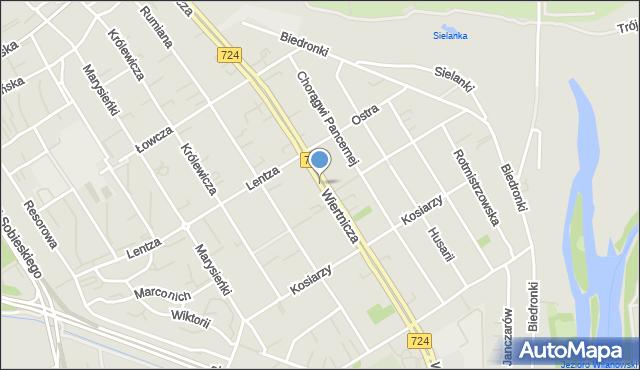 Warszawa, Wiertnicza, mapa Warszawy