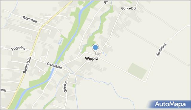 Wieprz powiat wadowicki, Wieprz, mapa Wieprz powiat wadowicki