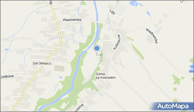 Wieprz powiat wadowicki, Wierzbowa, mapa Wieprz powiat wadowicki
