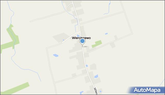 Wierciszewo gmina Sianów, Wierciszewo, mapa Wierciszewo gmina Sianów
