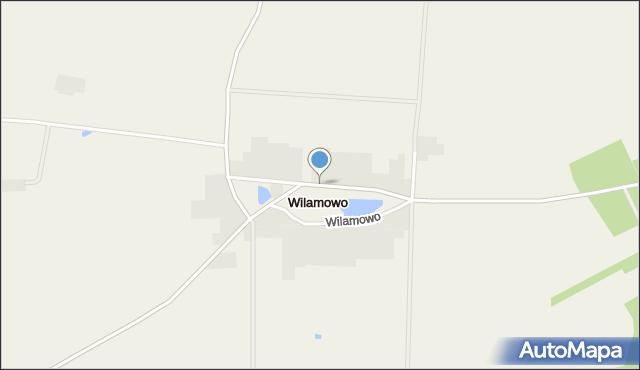 Wilamowo gmina Rozogi, Wilamowo, mapa Wilamowo gmina Rozogi