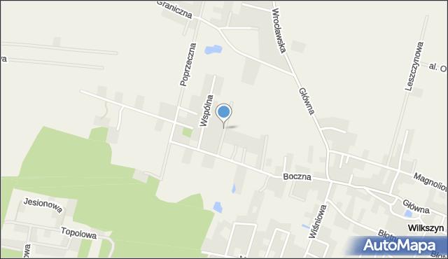 Wilkszyn, Wichrowa, mapa Wilkszyn