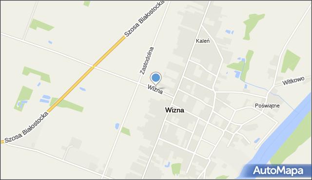 Wizna, Wizna, mapa Wizna