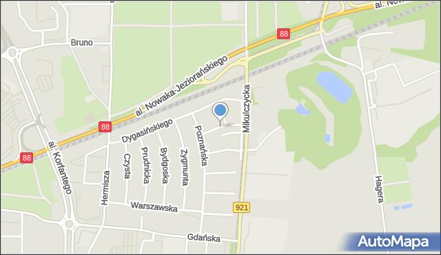 Zabrze, Wierzbowa, mapa Zabrza