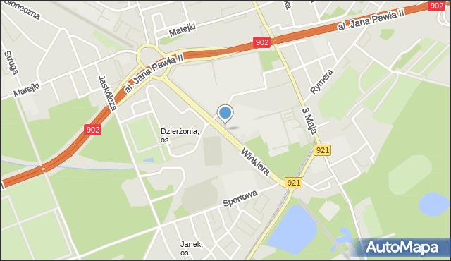 Zabrze, Winklera Wilibalda, prof., mapa Zabrza