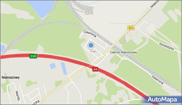 Zabrze, Wiśniowa, mapa Zabrza