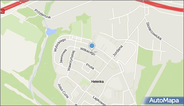 Zabrze, Witkacego Stanisława, mapa Zabrza