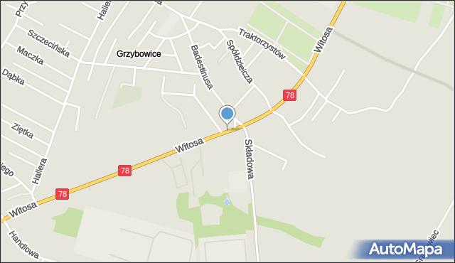 Zabrze, Witosa Wincentego, mapa Zabrza