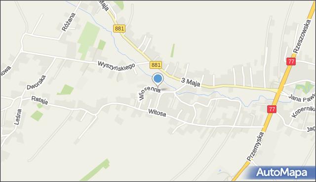 Żurawica powiat przemyski, Wiosenna, mapa Żurawica powiat przemyski